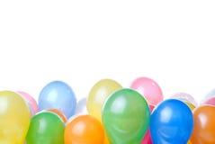 Ballons de couleur d'isolement Photo stock