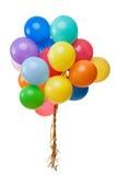 Ballons de couleur d'isolement Photos stock