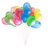 Ballons de couleur d'isolement sur le blanc Images libres de droits