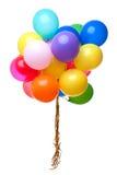Ballons de couleur d'isolement sur le blanc Photo stock