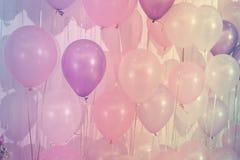 Ballons de couleur en pastel Photographie stock libre de droits