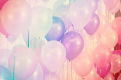 Ballons de couleur en pastel photo libre de droits