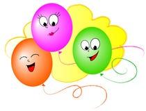 Ballons de dessin animé Photos stock