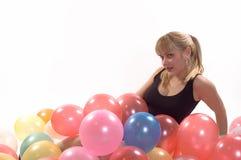 Ballons de fille Photographie stock libre de droits