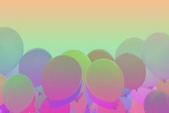 Ballons de fond de gradient Photographie stock