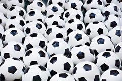 Ballons de football Photo libre de droits