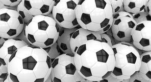 Ballons de football Photos stock