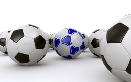 Ballons de football Photographie stock libre de droits