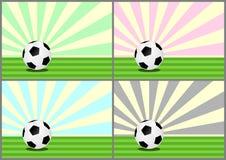 Ballons de football illustration libre de droits