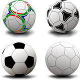 Ballons de football Photos libres de droits