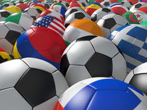 Ballons de football BG Images stock