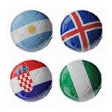 Ballons de football du football Photographie stock