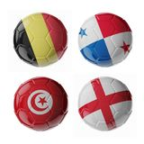 Ballons de football du football Image libre de droits
