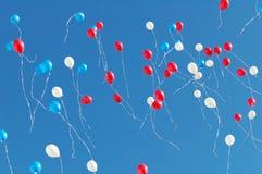 Ballons in de hemel Royalty-vrije Stock Afbeelding