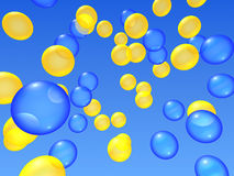 Ballons in de hemel vector illustratie