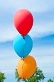 Ballons in de Hemel Royalty-vrije Stock Foto
