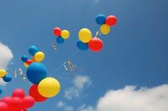 Ballons in de hemel Royalty-vrije Stock Fotografie