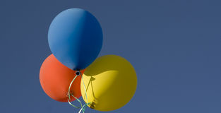 Ballons in de Hemel Royalty-vrije Stock Foto's