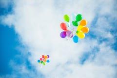 Ballons in de Hemel Royalty-vrije Stock Afbeeldingen