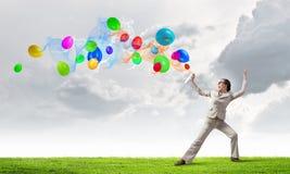 Ballons de jet de femme Photo libre de droits