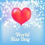 Ballons de jour de baiser du monde Photos libres de droits