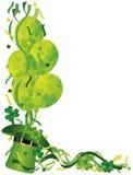 Ballons de jour de St Patricks avec l'illustration de confettis Images stock
