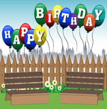Ballons de joyeux anniversaire Image libre de droits