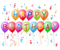 Ballons de joyeux anniversaire illustration stock
