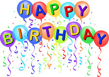 Ballons de joyeux anniversaire/ENV Images libres de droits