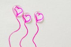 Ballons de l'amour Photographie stock libre de droits