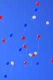 Ballons in de lucht Royalty-vrije Stock Afbeeldingen