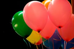 Ballons in de lucht Stock Foto's