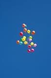 Ballons in de lucht Royalty-vrije Stock Fotografie
