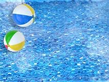 Ballons de plage Photo libre de droits