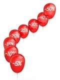 Ballons de promo Image libre de droits