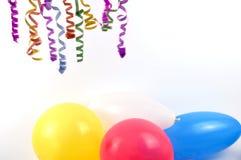 Ballons de réception image stock
