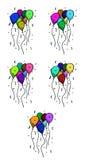 Ballons de réception Image libre de droits