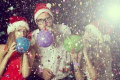 Ballons de soufflement Photographie stock