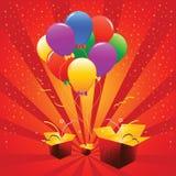 Ballons de vacances de vecteur Photographie stock