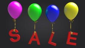Ballons de vente Photographie stock libre de droits