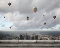Ballons de vol Photo libre de droits