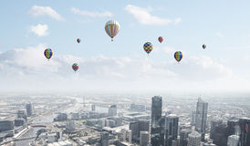 Ballons de vol Photographie stock libre de droits