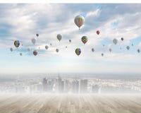 Ballons de vol Photos stock
