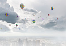 Ballons de vol Photographie stock