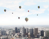 Ballons de vol Image stock