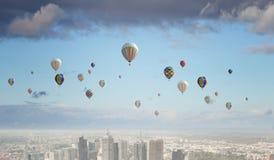 Ballons de vol Images libres de droits