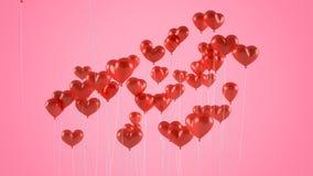 Ballons de vol sous forme de coeur photo stock