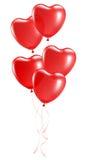 Ballons in de vorm van hart Stock Illustratie