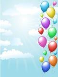 Ballons die in de hemel drijven Stock Afbeeldingen