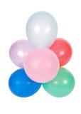 Ballons die op witte achtergrond worden geïsoleerde Stock Fotografie